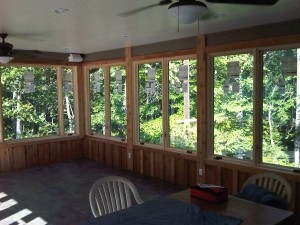 enclosed porch windows wood framed screened enclosed screen porch ideas